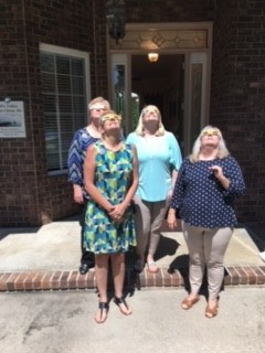 Admin Ladies Viewing Eclipse